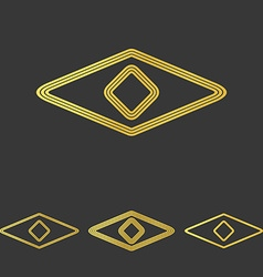 Golden line eye logo design set vector image