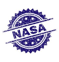 Grunge textured nasa stamp seal vector