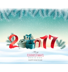 Happy new year 2017 New year design template vector image