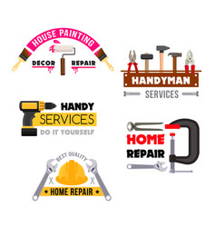 House repair icons of handyman work tools vector