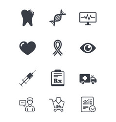 Medicine healthcare and diagnosis icons vector