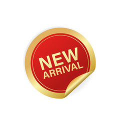 Modern red new arrival sticker great design vector