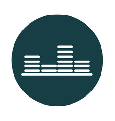 Music equalizer graphic sound block style icon vector