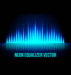 music equalizer in the dark colors vector image