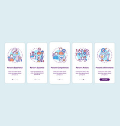 Personal brand components onboarding mobile app vector