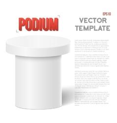 Photorealistic Speaker Stand Tribune vector image