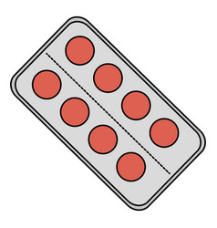 Pills drugs isolated icon vector