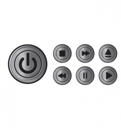 Player icons metal buttons vector