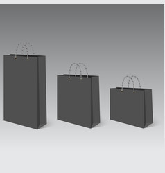 realistic empty bag for shopping with shadow vector image