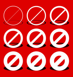 restriction prohibtion road sign in different vector image