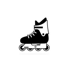 rollerblade icon concept for design vector image
