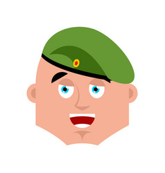 Russian soldier happy emoji airborne troops merry vector