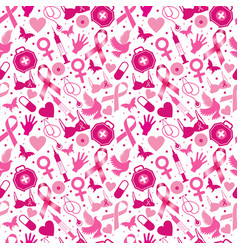 seamless pattern breast cancer for october vector image