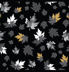 Seamless pattern with patterned leaves complex vector