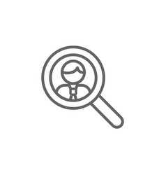 Search man outline icon elements business line vector