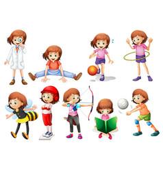 Set girl activity vector