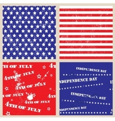 Set of seamless textures with USA Independence Day vector image
