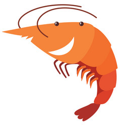 Shrimp with happy face vector