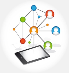 Social Media Abstract Communication vector