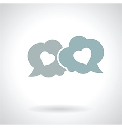 speech bubble with hearts vector image