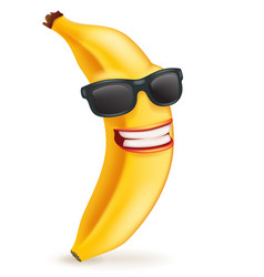 sunglasses smiling banana cartoon character 3d vector image