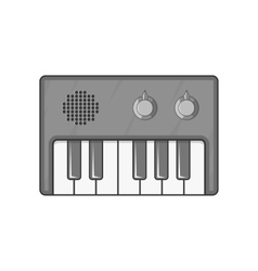 Synth icon black monochrome style vector image