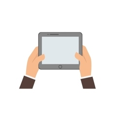 tablet hand gadget icon graphic vector image