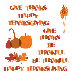 Thanksgiving typography graphics and icons vector