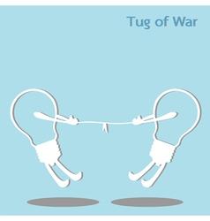 Tug of war vector