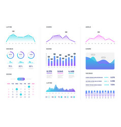 Ui dashboard modern infographic with gradient vector