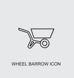 Wheel barrow icon vector