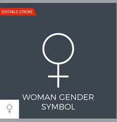 Woman gender symbol icon vector