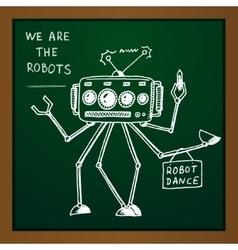 chalk draw robot vector image