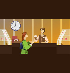 character people in the restaurant vector image