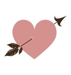 heart cartoon with arrow icon image vector image vector image