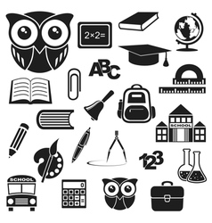 Icons education vector image
