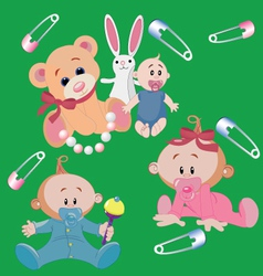infants vector image vector image