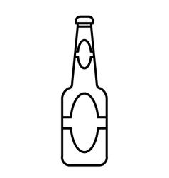 Beer bottle outline vector