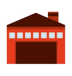 garage building isolated icon design vector image