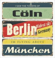 Retro signs Germany city Berlin vector image vector image
