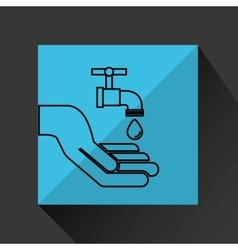silhouette hands environmentally friendly water vector image