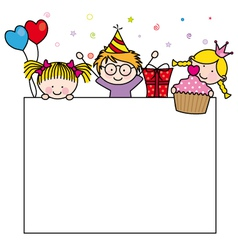 Birthday Postcard vector image