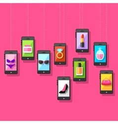 E commerce online fashion shopping vector