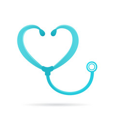 phonendoscope logo sign medical icon vector image