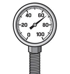 pressure gauge meter vector image vector image