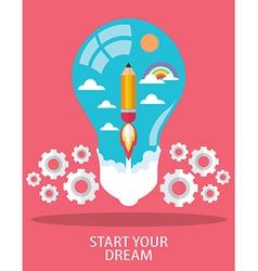 START YOUR DREAM vector image