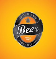 beer label theme vector image