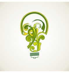 electric bulb vector image vector image