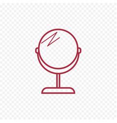 make up mirror thin line icon vector image