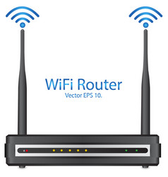 wifi rounter vector image